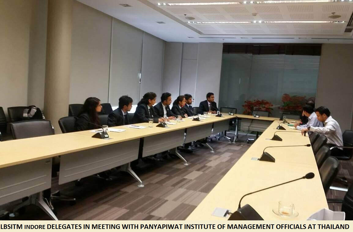 LBSITM INDORE DELEGATES IN MEETING WITH PANYAPIWAT INSTITUTE OF MANAGEMENT OFFICIALS AT THAILAND