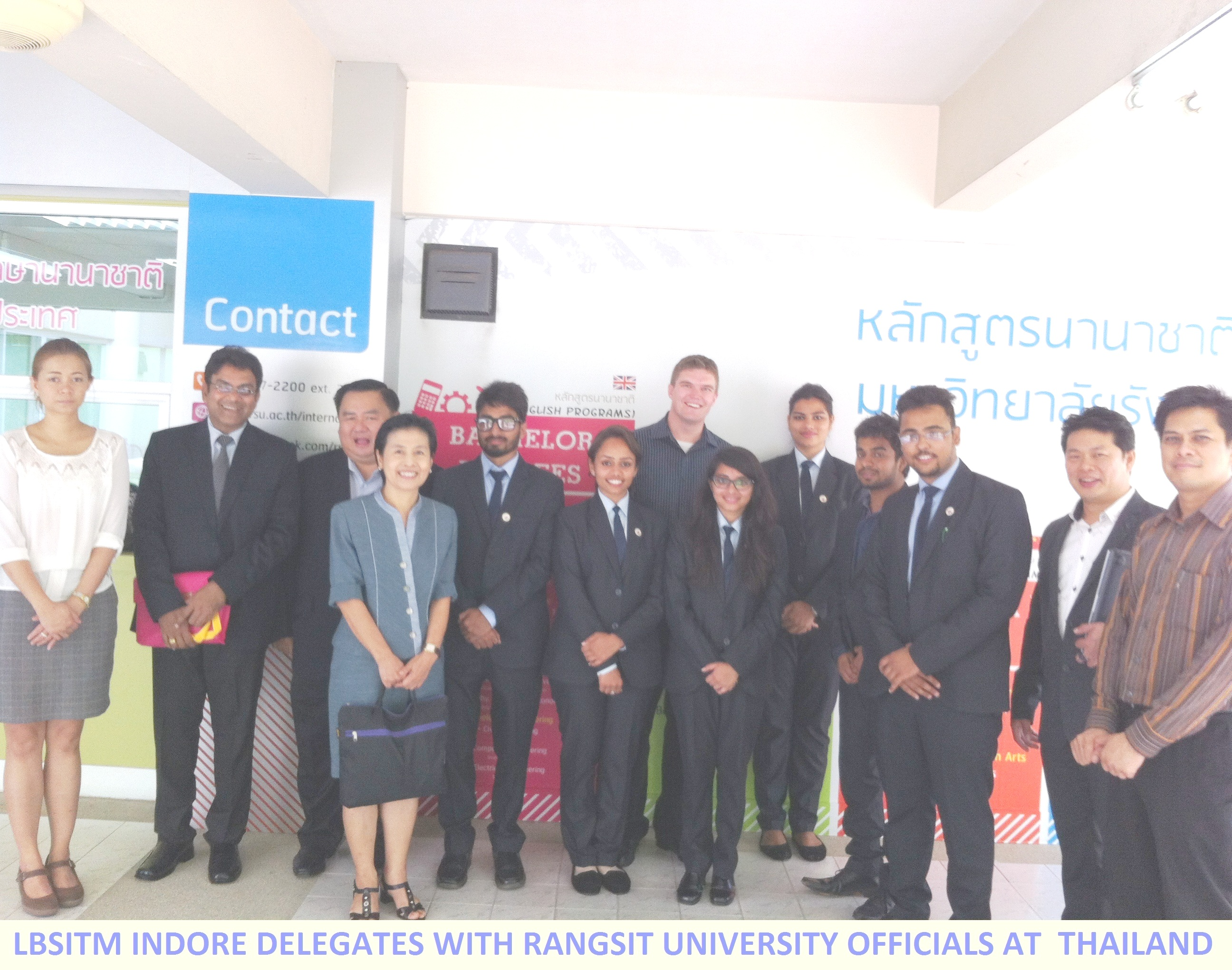 LBSITM INDORE DELEGATES WITH OFFICIALS OF RANGSIT UNIVERSITY, NONTHABURI, THAILAND1111