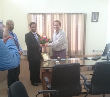 Director LBSIM  New Delhi, Dr. Deepak Shrivastava visited Indore campus