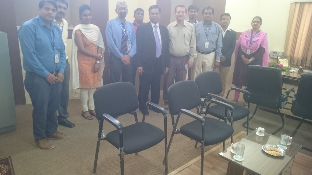 Director LBSIM  New Delhi  , Dr. Deepak Shrivastava  visited   Indore campus